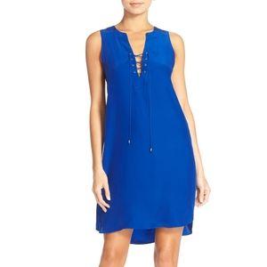 NWT Amanda Uprichard Michaela Blue Lace Up Dress